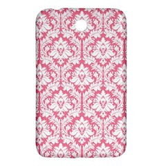 White On Soft Pink Damask Samsung Galaxy Tab 3 (7 ) P3200 Hardshell Case