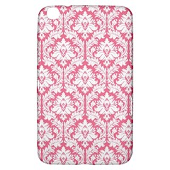 White On Soft Pink Damask Samsung Galaxy Tab 3 (8 ) T3100 Hardshell Case