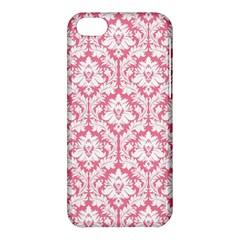 White On Soft Pink Damask Apple iPhone 5C Hardshell Case