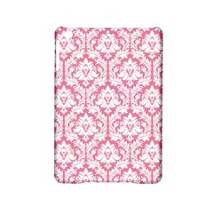 White On Soft Pink Damask Apple iPad Mini 2 Hardshell Case