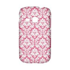 White On Soft Pink Damask Samsung Galaxy S6310 Hardshell Case