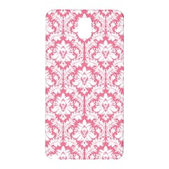White On Soft Pink Damask Samsung Galaxy Note 3 N9005 Hardshell Back Case