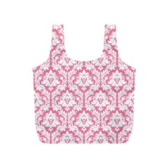 Soft Pink Damask Pattern Full Print Recycle Bag (s)