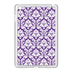 White on Purple Damask Apple iPad Mini Case (White)