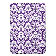 White on Purple Damask Kindle Fire HD 8.9  Hardshell Case