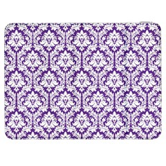 White on Purple Damask Samsung Galaxy Tab 7  P1000 Flip Case
