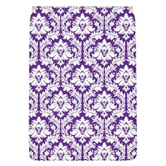 White on Purple Damask Removable Flap Cover (Large)