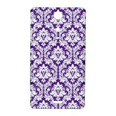 White on Purple Damask Sony Xperia TX Hardshell Case