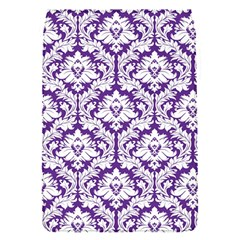 White on Purple Damask Removable Flap Cover (Small)
