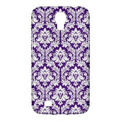 White on Purple Damask Samsung Galaxy Mega 6.3  I9200 Hardshell Case
