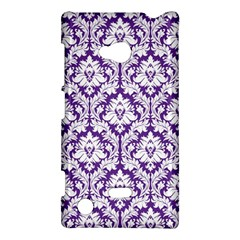 White On Purple Damask Nokia Lumia 720 Hardshell Case