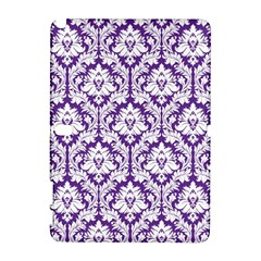 White On Purple Damask Samsung Galaxy Note 10 1 (p600) Hardshell Case
