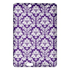 White On Purple Damask Kindle Fire Hd 7  (2nd Gen) Hardshell Case