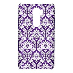 White on Purple Damask LG G2 Hardshell Case
