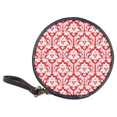 White On Red Damask Cd Wallet