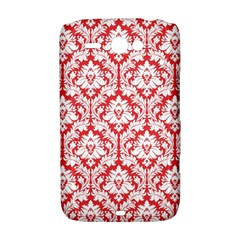 White On Red Damask HTC ChaCha / HTC Status Hardshell Case