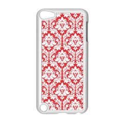 White On Red Damask Apple iPod Touch 5 Case (White)