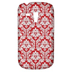 White On Red Damask Samsung Galaxy S3 MINI I8190 Hardshell Case