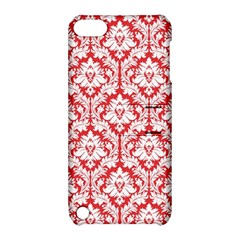 White On Red Damask Apple iPod Touch 5 Hardshell Case with Stand