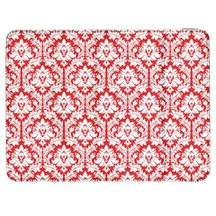 White On Red Damask Samsung Galaxy Tab 7  P1000 Flip Case