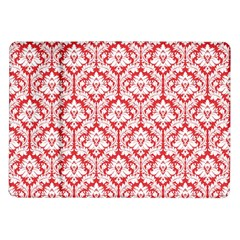 White On Red Damask Samsung Galaxy Tab 10.1  P7500 Flip Case