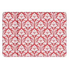 White On Red Damask Samsung Galaxy Tab 8.9  P7300 Flip Case
