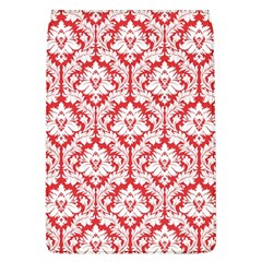 White On Red Damask Removable Flap Cover (Large)