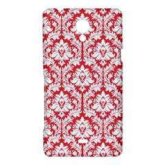 White On Red Damask Sony Xperia T Hardshell Case