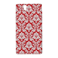 White On Red Damask Sony Xperia Z (L36H) Hardshell Case