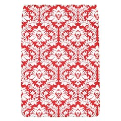White On Red Damask Removable Flap Cover (small)