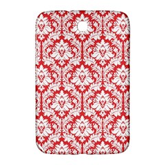White On Red Damask Samsung Galaxy Note 8.0 N5100 Hardshell Case