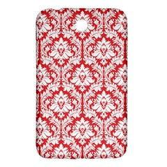 White On Red Damask Samsung Galaxy Tab 3 (7 ) P3200 Hardshell Case