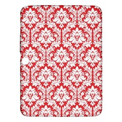White On Red Damask Samsung Galaxy Tab 3 (10.1 ) P5200 Hardshell Case