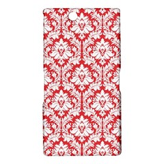 White On Red Damask Sony Xperia Z Ultra (XL39H) Hardshell Case