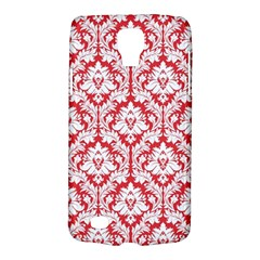 White On Red Damask Samsung Galaxy S4 Active (I9295) Hardshell Case