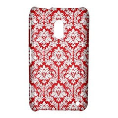 White On Red Damask Nokia Lumia 620 Hardshell Case