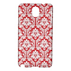 White On Red Damask Samsung Galaxy Note 3 N9005 Hardshell Case