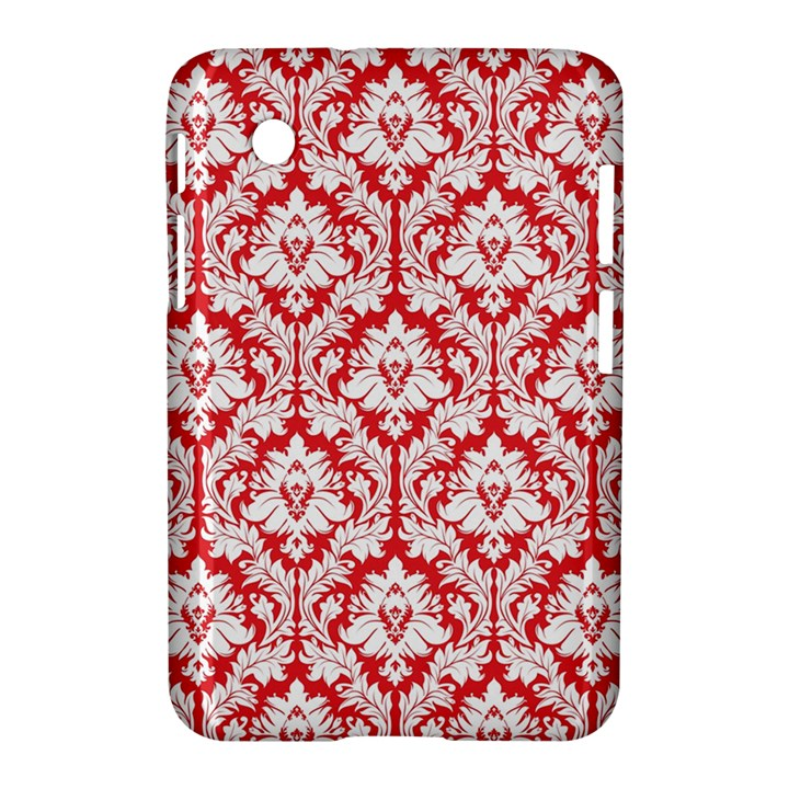 White On Red Damask Samsung Galaxy Tab 2 (7 ) P3100 Hardshell Case