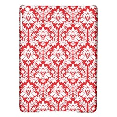 White On Red Damask Apple iPad Air Hardshell Case