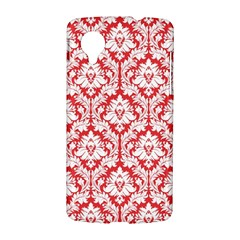 White On Red Damask Google Nexus 5 Hardshell Case