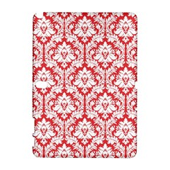 White On Red Damask Samsung Galaxy Note 10 1 (p600) Hardshell Case