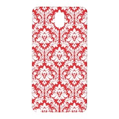 White On Red Damask Samsung Galaxy Note 3 N9005 Hardshell Back Case