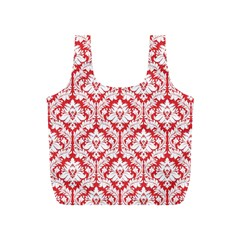 Poppy Red Damask Pattern Full Print Recycle Bag (S)