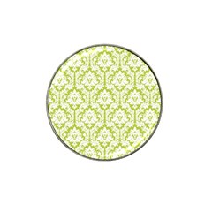 White On Spring Green Damask Golf Ball Marker (for Hat Clip)