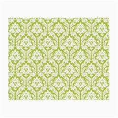 White On Spring Green Damask Glasses Cloth (Small, Two Sided)