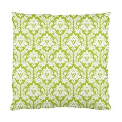 Spring Green Damask Pattern Standard Cushion Case (One Side)