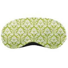 Spring Green Damask Pattern Sleeping Mask