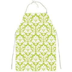 Spring Green Damask Pattern Full Print Apron