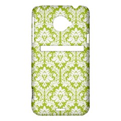 White On Spring Green Damask HTC Evo 4G LTE Hardshell Case