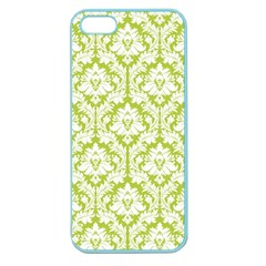 White On Spring Green Damask Apple Seamless iPhone 5 Case (Color)